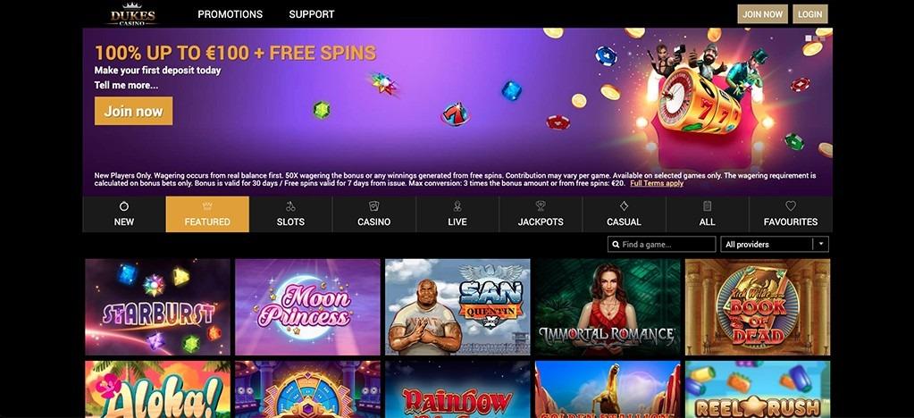 Dukes Casino – 2021 Full Review