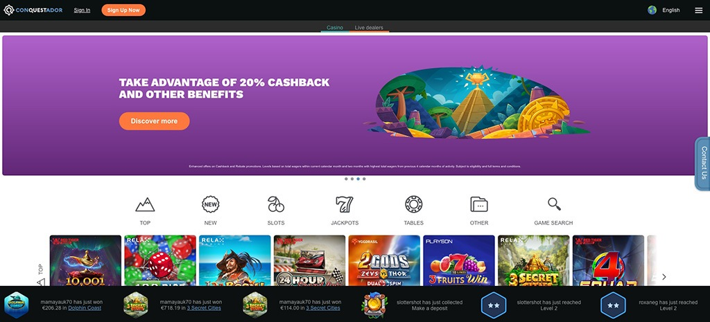 Conquestador Casino - 2021 Full Review